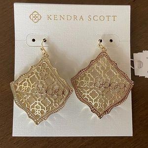 Kendra Scott Kristen Gold Drop Earrings - NWT